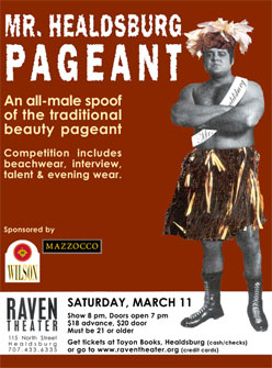 Mr. Healdsburg pageant at the Raven Performing Arts Theater